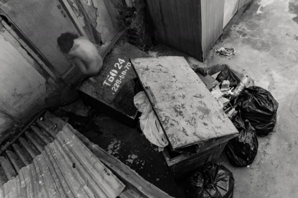 Woman in the trash